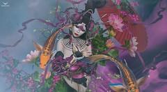 Yeri~Koi (Skip Staheli (Clientlist closed)) Tags: skipstaheli secondlife sl avatar virtualworld dreamy digitalpainting japanese asian yeriakcouturier fashion fantasy fish koi ribbon