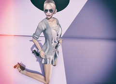 Belt Up, Betty! On The Floor... (||Tempest Rosca Photography||) Tags: tempestrosca tempestroscaphotography beltupbetty tableauvivant friday sys secondlife secondlifeblog secondlifefashion sl slfashion {reverie} infiniti