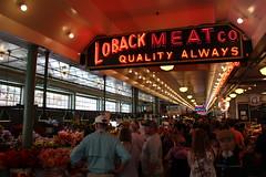 Pike Place Market, Seattle, USA (August 2016) (_mattedge) Tags: neon fishmarket pikeplace usa washington wa seattle 100d canon