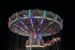 DSC02341 (Moodycamera Photography) Tags: canadiannationalexhibition cne toronto ontario nightphotography rides slowshutterspeed long exposurerlights ferriswheel swing turning twisting spining amusment horse hdr