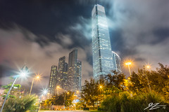 Every Hour Of Every Day (Tim van Zundert) Tags: hong kong west kowloon park promenade china city skyline lights night evening sky cloud long exposure sky100 international commerce centre icc building architecture skyscraper tower sony a7r voigtlander 21mm ultron