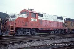 WM 5633 on 9-5-77 (C.W. Lahickey) Tags: wm emd gp7 connellsville