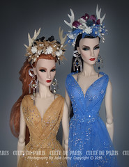 GODDRESSES (Culte De Paris) Tags: blue goddess dress flower crown handmade elise engaging fr fr2 fashion royalty brunette sheer gown it integrity toys culte de paris julia leroy jason wu haute couture evening wear red carpet special occasion fashionista style outfits parisian