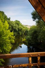 Kanu (Alexander Kowatzki) Tags: kanu saale brcke rost natur grn himmel wasser fluss river canoe nature green bridge rusty rostig