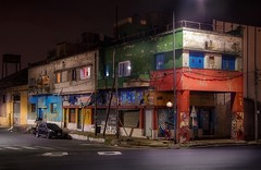 Abandoned streets (karinavera) Tags: travel nikond5300 city urban building night street colors wallart laboca corner urbanexploration abandoned buenosaires argentina longexposure decay old streets people