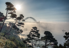 16-10569-HDRp.jpg (kgsix) Tags: yaquinabaystatepark usa yaquinariver oregon yaquinabaybridge lincolncounty newport yaquinabay photomatix5 fog unitedstates us