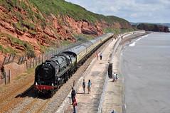 20120708   70000 Britannia (paulbrankin775) Tags: 71000 britannia langstone dawlish rockstone station steam torbay express smoke locomotive