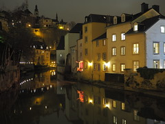 Grund (DoMaGo) Tags: night luxembourg reflection