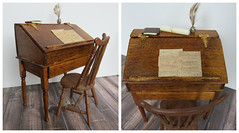 My Mini Handmade Writing Desk (Foxy Belle) Tags: miniature dollhouse book colonial wooden accessories office make ooak handamde 112 handmade writing desk