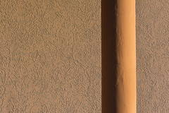 Yellow drain and wall (Jan van der Wolf) Tags: map158440v drain regenpijp wall muur monochrome monochroom shadow schaduw texture simple simpel minimalism minimalistic minimalisme minimal minimlistic