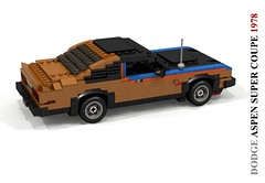 Dodge Aspen Super Coupe (1978) (lego911) Tags: dodge aspen super coupe 1978 chrysler corporation corp 1970s classic v8 auto car moc model miniland lego lego911 ldd render cad povray lugnuts challenge 106 exclusiveedition exclusive limited special edition usa america