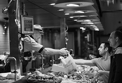 (Tony P Iwane) Tags: blackandwhite cork countycork englishmarket fish fishmonger food groceries ireland kayoconnell lights monochrome sales seafood selling streetphotography ie