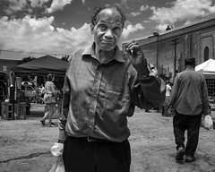 South Philly Near Passyunk, 2016 (Alan Barr) Tags: philadelphia 2016 passyunk southphiladelhia southphilly street sp streetphotography streetphoto blackandwhite bw blackwhite mono monochrome candid people ricoh gr
