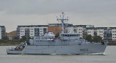 FS Cephee M652 (3) @ Gallions Reach 16-09-16 (AJBC_1) Tags: riverthames gallionsreach london frenchnavy minesweeper military warship ajc dlrblog ship boat vessel england unitedkingdom uk navy navalvessel northwoolwich eastlondon newham minehunter mcv londonboroughofnewham fscephee m652 tripartiteclassminehunter nikond3200