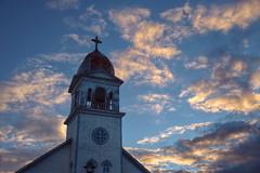 Baie-Trinit (Patrice StG) Tags: d700 qubec northshore ctenord stlaurent stlawrence glise church clocher belfry baietrinit 24120mmf4gvr nikkor24120vrf4 gimp