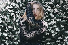 Alice. (amor vacui;) Tags: portrait portraiture femaleportrait canon femalephotography girl tattooedgirl beauty flowers nature