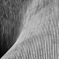 Making Waves (mcb photography) Tags: makingwaves curve flow building architecture urban olympicpark mikebarber mcbphotography wwwmcbphotographycouk bw blackandwhite monochrome mono blackwhite london england uk