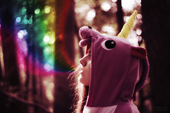 [digital] lessons on how to be a unicorn (Lenalotta1988) Tags: canon eos 600d ef 50mm 18 ps nik unicorn raindow forest bokeh colour colourful tree girl breath eyes lashes light dream fun einhorn lena milau flensburg