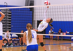 IMG_5475 (SJH Foto) Tags: girls volleyball high school lancaster mennonite pa pennsylvania team tween teen teenager varsity net battle spike block action shot jump midair