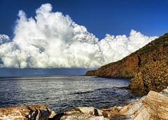 Cliffs (baratti) Tags: italy tuscany piombno salivoli harbour cliffs clouds seascape