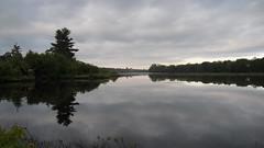 Launching Canoe at Redbank (James P. Mann) Tags: new river salmon brunswick redbank
