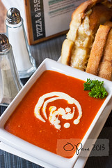 Tomato Bisque (Owen Audious) Tags: red food orange tomato lunch restaurant yummy bisque eat hastings blackmarket