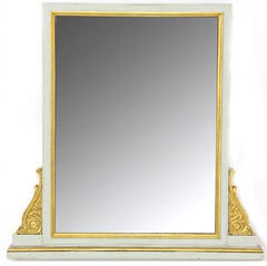 89. Painted and Gilt French Console Mirror