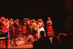 Township Express South African Gospel Singers Queen Elizabeth Hall with Pinise Saul RIP Julia Mathunjw RIP and the Manhattan Brothers Dec 1999 073 (photographer695) Tags: township express south african gospel singers queen elizabeth hall with pinise saul rip julia mathunjw manhattan brothers dec 1999 qeh sep shikisha manhatten bros