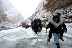 Help me ! (Partha) Tags: blue winter camp india snow cold ice trekking trek river frozen extreme january zanskar february demanding himalaya porter ladakh tibb chadar chadartrek trekthehimalaya