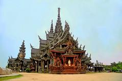 Sanctuary of Truth, Pattaya, Thailand (kingdomany) Tags: color art nature architecture thailand temple photo ancient nikon scenery flickr bangkok thai d90 sanctuaryoftruth