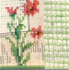 red bloom (kurberry) Tags: collage crossstitch ephemera tissuepaper tracingpaper magazinepages bookpages vintageephemera bookbindingteam