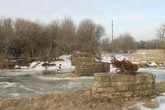 CGW021813GLAD2 (eslade4) Tags: bridge abandoned piers cgw abutments gladbrook excgw chicagogreatwestern excnw