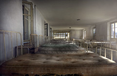The summer camp  ( explore ) (andre govia.) Tags: school windows light summer camp mountain abandoned children dead lost bed beds decay great best creepy urbanexploration ghosts derelict decayed decaying urbex silenthill andregovia fogottenbuildings