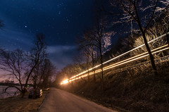 Train! (Michael Kline) Tags: moon river va nightsky february newriver 2013