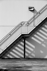 a stair in the morning (enki22) Tags: shadow white abstract black stair industrial minimalism conceptual enki22