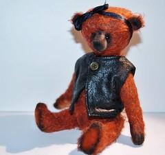 Mekare Bears Bor FA (mekare_nl) Tags: bear art leather vintage doll artist teddy sale handmade mohair teddybear bjd rayon fa available teddybears artistbear mekare mekarebears
