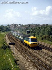 M018-00335 (railphotolibrary.com) Tags: old city blue england urban train bristol countryside europe diesel archive railway british hst br1 uk1 ic125