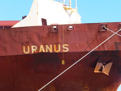 Uranus... (stevenbrandist) Tags: brown port puerto spain ship joke rusty vessel rope andalucia espana bahia anchor containership anus crusty uranus algeciras youranus bayofalgeciras