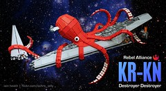 Release the KR-KN! (Ochre Jelly) Tags: monster star starwars ship lego space destroyer squid scifi wars emerald comicon kraken moc afol octpus eccc venator sealug