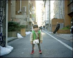 I'm Tired of Carry This!! (MichelleSimonJadaJana) Tags: portrait color 120 mamiya girl childhood japan analog children tokyo kid portable scanner documentary lifestyle 7 rangefinder snaps ii jana  epson medium format  compact flatbed jada 80mm f4l 7ii vuescan v750 gtx970