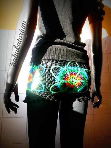 Crochet Shorts - Eclectic Flowers