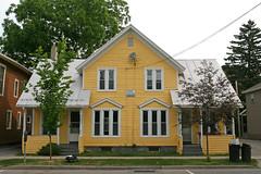 Symmetric Yellow House (jschumacher) Tags: house upstate symmetric newyorkstate geneseo