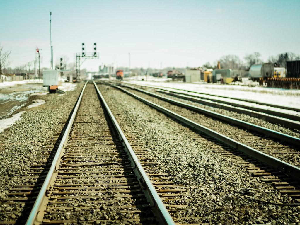 train tracks and orange1 - photo #9