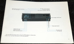 Sony SL-5600 VCR Betamax (3) (Photo Nut 2011) Tags: sony beta instructions vcr betamax sl5600