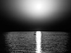 Sail Without Sails (Yam Amir) Tags: sea sky bw sun white water contrast landscape 50mm nikon aqua noir ship shadows surrealism surreal yam amir nd sail f22 minimalism bout nex mirrorless nex6 yamamir