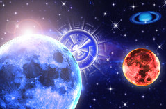 Astrology (ancentr) Tags: blue fiction moon abstract star solar gate purple background space science andromeda galaxy fantasy nebula planet mystical astronomy plasma universe exploration dimension orbit cosmos constellation hydrogen celestial vast nebulae