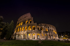 Colosseum by night / Explore (wriggler!) Tags: old light italy rome building night dark ancient pentax antique walk colosseum sigma1020 wriggler pentaxart pentaxk5 dblringexcellence