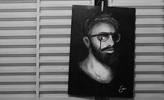 Enn Portrait (lysmarklial) Tags: black dark dead born blood friend paint sad oil bleeding ennportrait