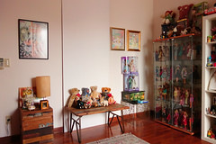 my dolly room today (girl enchanted) Tags: white ikea vintage toy toys artwork junk dolls treasure toystory bears barbie disney shelf barbies cabbagepatchkid mattel clutter treasures steiff dollies cpk toyroom 80stoys dollyroom