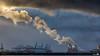 The cloud factory (Maasvlakte) (BraCom (Bram)) Tags: chimney sun haven holland clouds canon harbor rotterdam ship harbour crane widescreen smoke nederland thenetherlands wolken vessel rook 169 schiff zon maasvlakte buoy containers kraan zuidholland schip boei schoorsteen europoort southholland canonef70200mmf4lisusm europoortrotterdam bracom canoneos5dmkiii vigilantphotographersunite vpu2 vpu3 bramvanbroekhoven